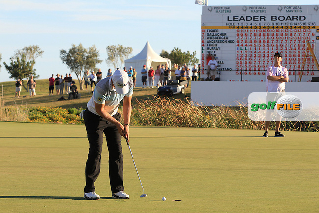 Bernd Wiesberger (AUT) putts on the 18th green during Saturday's Round 3 of the Portugal Masters at the Oceanico Victoria Golf Course, Vilamoura, Portugal 13th October 2012 (Photo Eoin Clarke/www.golffile.ie)