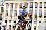 Richie Porte (AUS) Trek-Segafredo at the team presentation held on the Grand-Place before the 2019 Tour de France starting in Brussels, Belgium. 4th July 2019<br /> Picture: Colin Flockton | Cyclefile<br /> All photos usage must carry mandatory copyright credit (© Cyclefile | Colin Flockton)