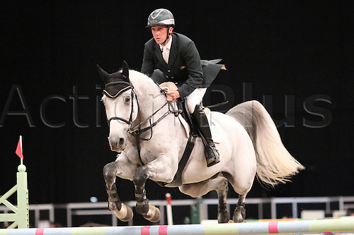 10.10.2010 The Horse of the Year Show from the NEC in Birmingham. HOYS leading Showjumper of the year. Shane Breen riding Catch Me If You Can