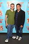 Jeff Marx and Robert Lopez attends the 'Avenue Q' - 15th Anniversary Performance Celebration at Novotel on July 31, 2018 in New York City.