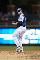 Charlotte Knights relief pitcher Evan Marshall (30) in action against the Indianapolis Indians at BB&T BallPark on April 27, 2019 in Charlotte, North Carolina. The Indians defeated the Knights 8-4. (Brian Westerholt/Four Seam Images)