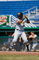 West Virginia Black Bears designated hitter Felix Vinicio (44) at bat during a game against the Batavia Muckdogs on July 1, 2018 at Dwyer Stadium in Batavia, New York.  Batavia defeated West Virginia 8-4.  (Mike Janes/Four Seam Images)