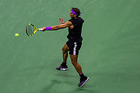 Rafael Nadal of Spain returns a shot during his Men's Singles semi-final match against Matteo Berrettini of Italyon day twelve of the 2019 US Open at the USTA Billie Jean King National Tennis Center on September 06, 2019 in Queens borough of New York City. <br /> CAP/EL<br /> ©Elena Leoni/Capital Pictures
