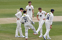 Kent players celebrate taking the wicket of Sam Cook during Essex CCC vs Kent CCC, Bob Willis Trophy Cricket at The Cloudfm County Ground on 3rd August 2020