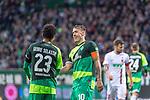 10.02.2019, Weser Stadion, Bremen, GER, 1.FBL, Werder Bremen vs FC Augsburg, <br /> <br /> DFL REGULATIONS PROHIBIT ANY USE OF PHOTOGRAPHS AS IMAGE SEQUENCES AND/OR QUASI-VIDEO.<br /> <br />  im Bild<br /> <br /> Theodor Gebre Selassie (Werder Bremen #23)<br /> Max Kruse (Werder Bremen #10)<br /> <br /> Foto © nordphoto / Kokenge