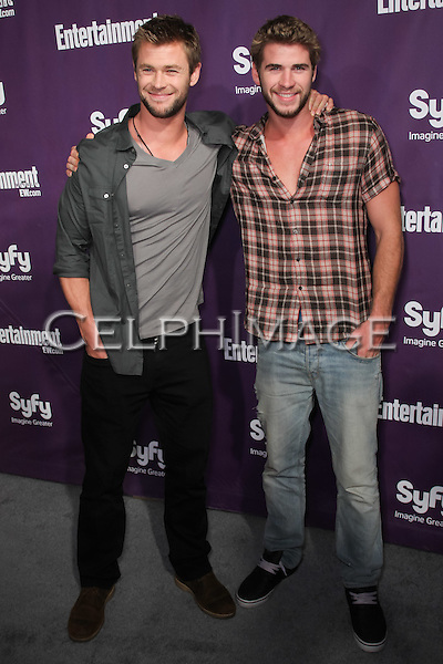 CHRIS HEMSWORTH, LIAM HEMSWORTH.arrives to the annual Entertainment Weekly and Syfy Party in conjunction with Comic-Con 2010 at the Hotel Solamar. San Diego, CA, USA.July 24, 2010. ©CelphImage