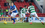 St Johnstone v Celtic&hellip;.McDiarmid Park, Perth.. 11.05.16<br />Scott Brown is closed down by Ryan Chrstie<br />Picture by Graeme Hart.<br />Copyright Perthshire Picture Agency<br />Tel: 01738 623350  Mobile: 07990 594431