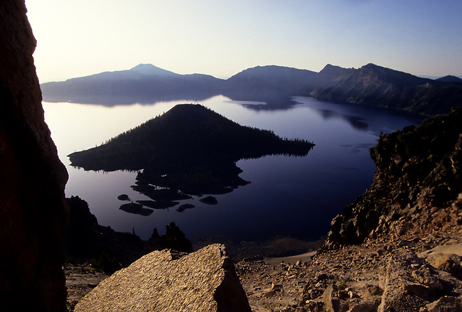 volcanic Crater Lake national park in Oregon, USA