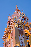 The Cathedral of Cartagena, Towerbell (1577), Cartagena de Indias, Bolivar Department,, Colombia, South America.