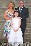 FIRST COMMUNION: Carol Quirke, Rock Park Ave. making her First Holy Communion on Saturday at St John's Church, with her parents John and Emily Quirke   Copyright Kerry's Eye 2008