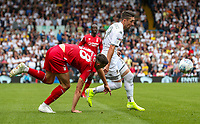 Leeds United's Pablo Hernandez gets away from Nottingham Forest's Jack Robinson<br /> <br /> Photographer Alex Dodd/CameraSport<br /> <br /> The EFL Sky Bet Championship - Leeds United v Nottingham Forest - Saturday 10th August 2019 - Elland Road - Leeds<br /> <br /> World Copyright © 2019 CameraSport. All rights reserved. 43 Linden Ave. Countesthorpe. Leicester. England. LE8 5PG - Tel: +44 (0) 116 277 4147 - admin@camerasport.com - www.camerasport.com