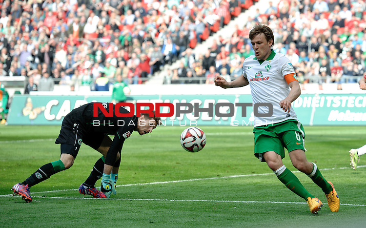 09.05.2015, HDI Arena, Hannover, GER, 1.FBL, Hannover 96 vs Werder Bremen, im Bild Clemens Fritz (Bremen #8)<br /> <br /> Foto &copy; nordphoto / Frisch