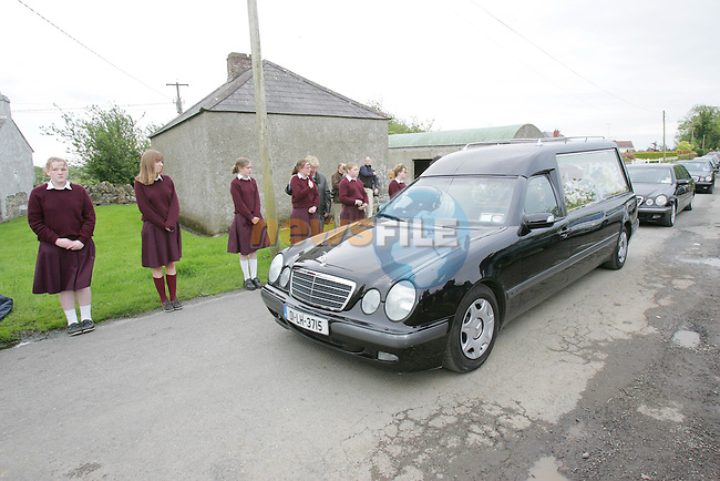 The funeral of Lisa Callan arriving at Rosaneree church Co Meath..Photo NEWSFILE/FRAN CAFFREY..(Photo credit should read FRAN CAFFREY/NEWSFILE)...This Picture has been sent you under the condtions enclosed by:.Newsfile Ltd..the Studio,.Millmount Abbey,.Drogheda,.Co Meath..Ireland..Tel: +353(0)41-9871240.Fax: +353(0)41-9871260.GSM: +353(0)86-2500958.email: pictures@newsfile.ie.www.newsfile.ie.FTP: 193.120.102.198..This picture is from Fran Caffrey@newsfile.ie