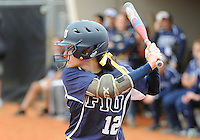 Florida International University outfielder Erika Arcuri (12) plays against the University of Louisville which won the game 4-2 on February 11, 2012 at Miami, Florida. .