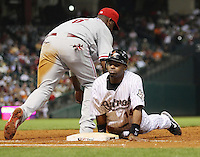 Astros OF Michael Bourn on Thursday May 22nd at Minute Maid Park in Houston, Texas. Photo by Andrew Woolley / Baseball America.