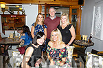 Sabrina O Reilly, Leith Tralee, celebrating her 40th birthday with  friends at Bella Bia's Front l-r Rachel Ahern, Sabrina O Reilly Back l-r Louise Lovett, Des Bailey and Amy McGillicuddy