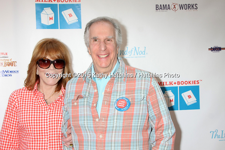 LOS ANGELES - FEB 19:  Stacey Winkler, Henry Winkler at the Milk+Bookies Sixth Annual Story Time Celebration at the Toyota Grand Prix Racecourse on April 19, 2015 in Long Beach, CA