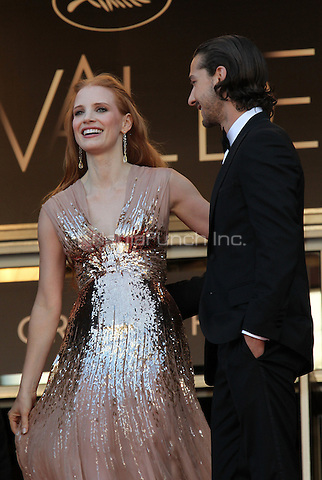 ../Actress Jessica Chastain and actor Shia Labeouf attend the 'Lawless' Premiere during the 65th Annual Cannes Film Festival at Palais des Festivals on May 19, 2012 in Cannes, France.  .. / Mediapunchinc