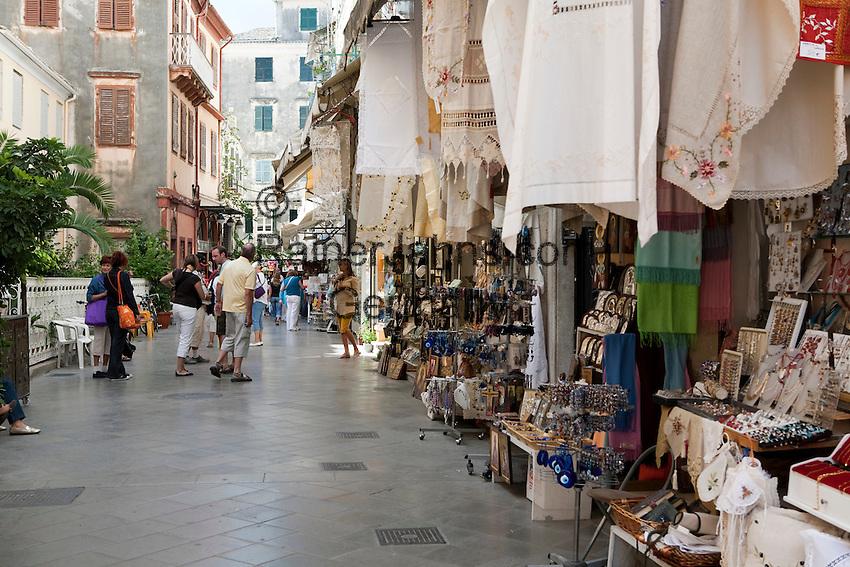 Greece, Corfu, Corfu-Town (Kerkyra): Souvenir shops