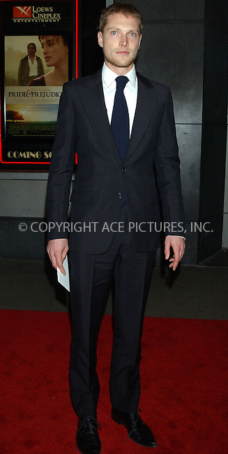 WWW.ACEPIXS.COM . . . . . ....NEW YORK, NOVEMBER 10, 2005....Simon Woods at the New York Premiere of 'Pride and Prejudice' at Loews Lincoln Centre.......Please byline: KRISTIN CALLAHAN - ACE PICTURES.. . . . . . ..Ace Pictures, Inc:  ..Philip Vaughan (212) 243-8787 or (646) 679 0430..e-mail: info@acepixs.com..web: http://www.acepixs.com