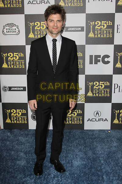 ADAM SCOTT .25th Annual Film Independent Spirit Awards held At The Nokia LA Live, Los Angeles, California, USA,.March 5th, 2010 ..arrivals Indie Spirit full length black suit tie .CAP/ADM/KB.©Kevan Brooks/Admedia/Capital Pictures