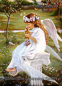CHILDREN, KINDER, NIÑOS, paintings+++++,USLGSK0136,#K#, EVERYDAY ,Sandra Kock, victorian ,angels