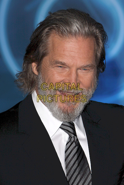 "JEFF BRIDGES .""TRON: Legacy"" World Premiere held at the El Capitan Theatre, Hollywood, California, USA..December 11th, 2010.headshot portrait  white black tie grey gray stripe beard facial hair .CAP/ADM/CH.©Charles Harris/AdMedia/Capital Pictures"