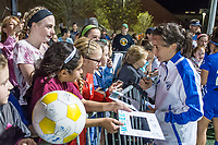 Boston, MA - Saturday April 29, 2017: Tiffany Weimer and fans during a regular season National Women's Soccer League (NWSL) match between the Boston Breakers and Seattle Reign FC at Jordan Field.