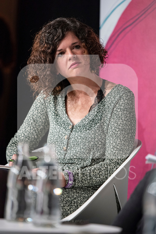 Sofía Castañón, secretary of Intersectional Feminisms and LGTBI of Podemos and candidate of Unidas Podemos Congress for Asturies in the event 'Feminist dialogue with social groups', together with organizations working on precariousness, care and dependence<br /> October 30, 2019. <br /> (ALTERPHOTOS/David Jar)