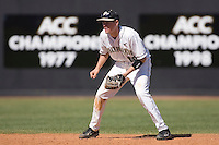 Shortstop Shane Kroker #10 of the Wake Forest Demon Deacons on defense versus the Virginia Cavaliers at Wake Forest Baseball Park March 8, 2009 in Winston-Salem, NC. (Photo by Brian Westerholt / Four Seam Images)