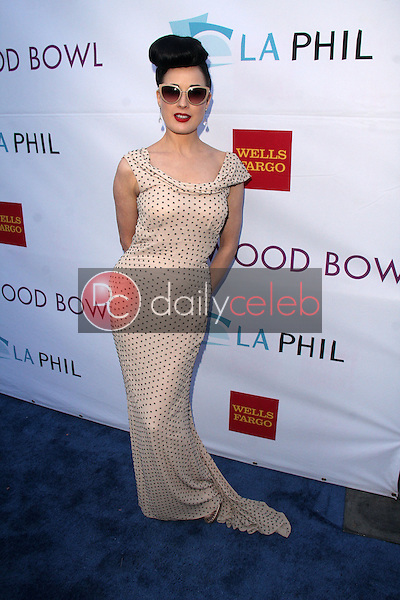 Dita Von Teese<br /> at the Hollywood Bowl Opening Night and Hall Of Fame Ceremony, Hollywood Bowl, Hollywood, CA 06-21-14<br /> David Edwards/DailyCeleb.com 818-249-4998