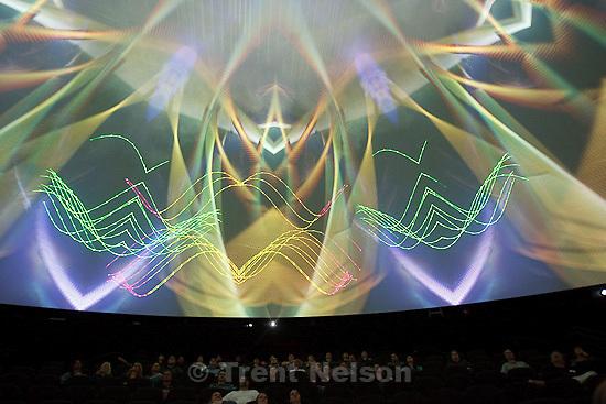 Trent Nelson  |  The Salt Lake Tribune.Led Zeppelin show in the Hansen Dome Theatre at the Clark Planetarium in Salt Lake City, Utah, Friday, April 8, 2011.