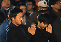 People celebrate the New Year at Kanda shrine in Tokyo