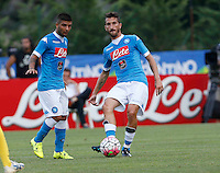 Lorenzo Insigne   Mirko Valdifiori durante l amichevole Napoli  Anaune a Dimaro 21 Luglio 2015<br /> <br /> Preseason summer training of Italy soccer team  SSC Napoli  in Dimaro Italy July 11, 2015