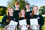 Lorraine Victor, Kian Falvey, Saoirse Harper, Cameron Murphy and Natasha Myers who collected their Junior Cert in Killorglin Community College on Wednesday