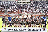 SÃO PAULO, SP,25 JANEIRO 2012 - COPA SAO PAULO DE FUTEBOL JUNIOR 2012 - <br /> Time posado fluminense durante partida entre as equipes do Corinthians x Fluminense realizada no Estádio Paulo Machado de Carvalho (SP), válido pela final da Copa São Paulo de Futebol Junior 2012, na manhã desta  quarta feira (25). (FOTO: ALE VIANNA - NEWS FREE).