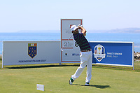 Thomas Aiken (RSA) on the 8th tee during Round 3 of the Rocco Forte Sicilian Open 2018 played at Verdura Resort, Agrigento, Sicily, Italy on Saturday 12th May 2018.<br /> Picture:  Thos Caffrey / www.golffile.ie<br /> <br /> All photo usage must carry mandatory copyright credit (&copy; Golffile | Thos Caffrey)