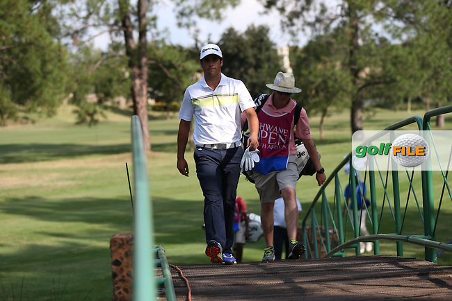 Smile you're crossing the bridge on the 17th; Adrian Otaegui (ESP) during Round Three of the Tshwane Open 2015 at the Pretoria Country Club, Waterkloof, Pretoria, South Africa. Picture:  David Lloyd / www.golffile.ie. 14/03/2015