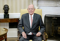 President Pedro Pablo Kuczynski of Peru looks on during a meeting with United States President Donald Trump  in the Oval Office of the White House on February 24, 2017 in Washington, DC. Photo Credit: Olivier Douliery/CNP/AdMedia