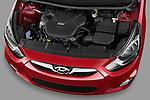 High angle engine detail of a 2012 Hyundai Accent GLS Sedan .