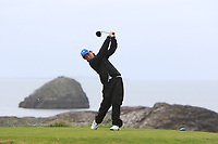 James O'Callaghan (Ballybunion) on the 4th tee during the Munster Final of the AIG Junior Cup at Tralee Golf Club, Tralee, Co Kerry. 13/08/2017<br /> Picture: Golffile | Thos Caffrey<br /> <br /> <br /> All photo usage must carry mandatory copyright credit     (&copy; Golffile | Thos Caffrey)