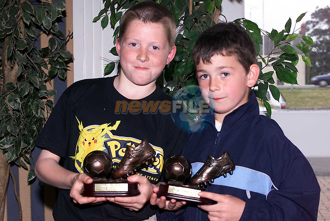 Peter Trinden, Clubman of the year Under 10's and Christopher McGuinness, Clubman of the year Under 9's at the EMU annual presentations in the Europa Hotel..Picture Paul Mohan Newsfile.