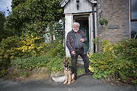Pictured: David Penn outside of his house. Thursday 01 June 2017<br /> Re: There has been a 4G mobile phone mast installed at the village of Littlestay in Powys, Mid Wales.