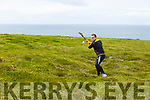 Sean Holden of Abbeydorney competing in the Kerry Puc Fada in Ballyheigue on Monday