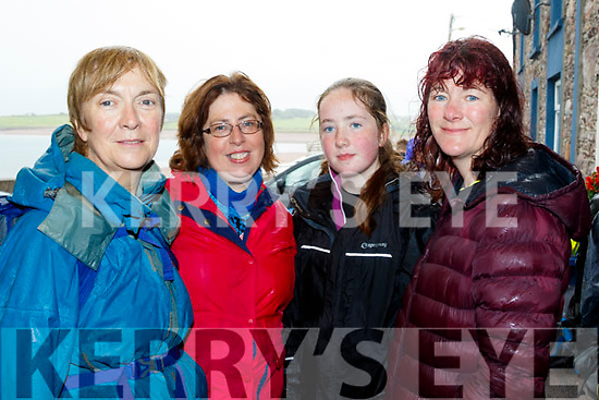 Walking Boots<br /> -------------------<br /> All safe but wet after completing the Sauce Creek walk near Brandon last Sunday aftenoon at Murphy's pub on the pier, in aid of the Kerry Mountain Rescue and the kerry-Cork link bus, L-R Mary Murphy, Treasa Lynch with Una&amp;Maura Fitzpatrick all from Brandon.