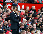 Antonio Conte manager of Chelsea during the English Premier League match at Old Trafford Stadium, Manchester. Picture date: April 16th 2017. Pic credit should read: Simon Bellis/Sportimage