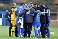 Romford huddle before Romford vs Coggeshall Town, BetVictor League North Division Football at the Brentwood Centre on 16th November 2019