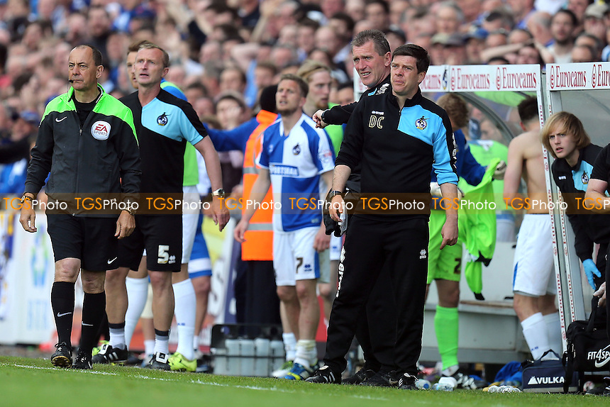 Bristol Rovers manager Darrell Clarke waits for the final whistle during Bristol Rovers vs Dagenham and Redbridge, Sky Bet League 2 Football at the Memorial Stadium on 7th May 2016