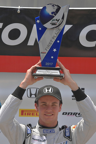 2017 F4 US Championship<br /> Rounds 4-5-6<br /> Indianapolis Motor Speedway, Speedway, IN, USA<br /> Sunday 11 June 2017<br /> Race two winner, Kyle Kirkwood<br /> World Copyright: Dan R. Boyd<br /> LAT Images