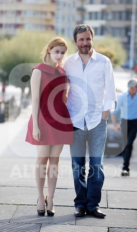 Actress Sarah Gadon and director Denis Villeneuve during the 61 San Sebastian Film Festival, in San Sebastian, Spain. September 21, 2013. (ALTERPHOTOS/Victor Blanco)